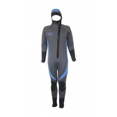 Deep Blue Titanium Lined 1- Piece 7mm Semi-dry Wetsuit